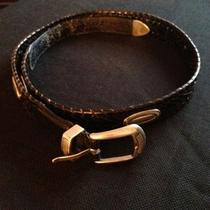 Fossil Black Braided Belt With Metal Ornaments-Actual Size 38