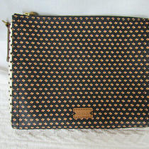 Fossil Black  Brown Patterned Leather Cross Body Bag With Removable Strap Photo