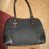 Fossil Black Canvas Purse  Photo