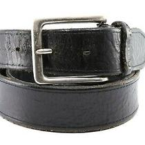 Fossil Black Genuine Leather Belt Size 36 175745 Photo