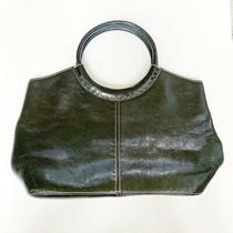 Fossil Black Genuine Leather Circle Handle Hobo Purse Photo