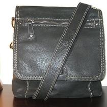 Fossil Black Genuine Leather Crossbody Bag / Handbag  in Very Good Condition Photo