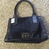 Fossil Black Handbag With Fur Photo