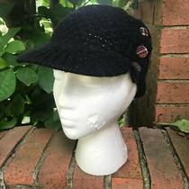 Fossil Black Knit Brimmed Beanie Photo