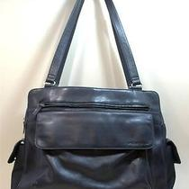 Fossil Black Leather and Microfiber Business Overnight Ladies Bag Photo