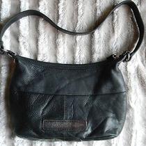 Fossil Black Leather Bag Purse  Photo