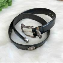 Fossil  Black Leather Belt & Silver Conchos Size Medium 37 Inches Women's Photo