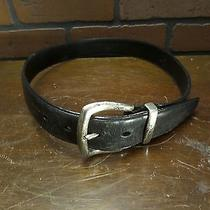 Fossil Black Leather  Belt W/silver Buckle Women's Size Small Photo