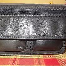 Fossil Black Leather  Classic Shoulder Bag  Purse Photo