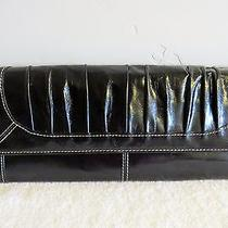 Fossil Black Leather Clutch Bag With Tags Photo