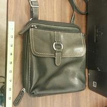 Fossil Black Leather Crosbody Shoulder Bag Purse Photo