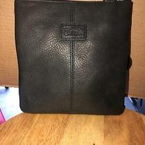 Fossil Black Leather Cross Body Shoulder Purse Photo