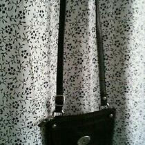 Fossil Black Leather Crossbody Bag Photo