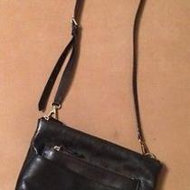 Fossil Black Leather Crossbody Bag Purse Photo