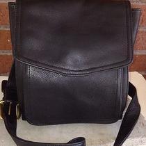 Fossil Black Leather Crossbody Bag Purse American Classic 1954 Small 158  Photo