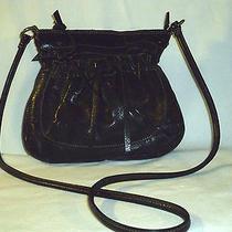 Fossil Black Leather Crossbody Bag W/ Ruffled Pocketvery Cute Photo