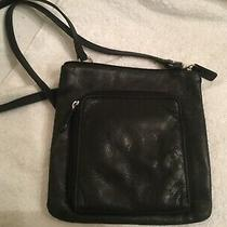 Fossil Black Leather Crossbody Purse Organizer  Photo