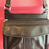 Fossil Black Leather Crossbody Shoulder Bag Photo