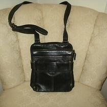 Fossil Black Leather Crossbody Travel Purse Medium Photo