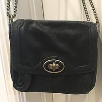 Fossil Black Leather Gold Box Chain Purse Photo