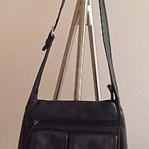 Fossil Black Leather Handbag Photo
