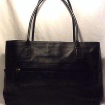 Fossil Black Leather Laptop Tote Photo