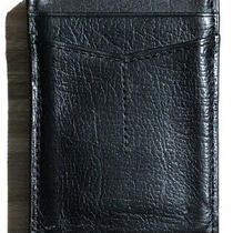 Fossil Black Leather Magnetic Money Clip & Card Case Photo