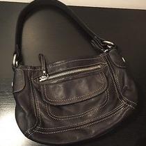 Fossil Black Leather Medium Hobo Free Shipping Photo