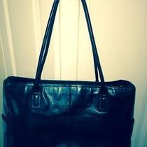 Fossil Black Leather Mini Brief Computer Case Shoulder Bag Excellent Photo