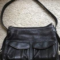 Fossil Black Leather Purse Bag With Leather Strap Photo