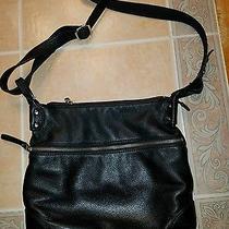 Fossil Black Leather Purse / Handbag Crossbody / Shoulder Photo