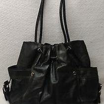 Fossil Black Leather Satchel Photo