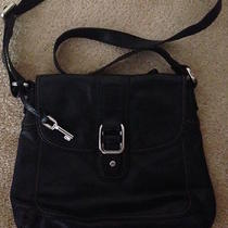 Fossil Black Leather Shoulder Bag Photo