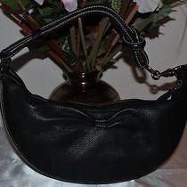 Fossil Black Leather Shoulder Bag Hobo Purse Photo
