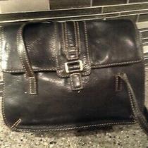 Fossil Black Leather  Shoulder Bag Purse  Medium Photo
