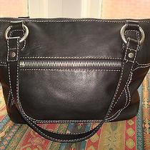 Fossil Black Leather Shoulder Bag / Purse / Satchel Photo
