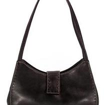 Fossil Black Leather Shoulder Bag Satchel Purse Classic Style 148 Med Exc Photo