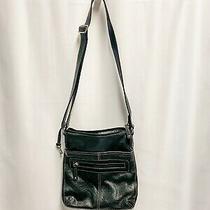 Fossil Black Leather Shoulder Crossbody Messenger Bag Purse Photo