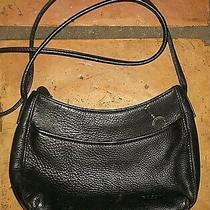 Fossil Black Leather Shoulder Handbag Bag Purse  Photo