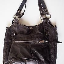 Fossil Black Leather Tote Photo