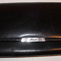 Fossil Black Leather Vintage Trifold Check Book Wallet Photo
