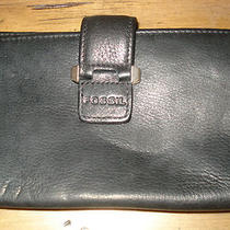 Fossil Black Leather Wallet Photo