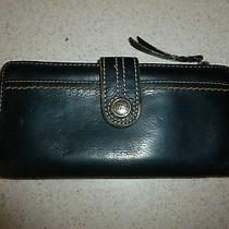 Fossil Black Leather Wallet Bifold Photo