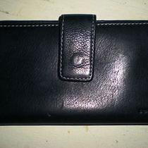 Fossil Black Leather Wallet/check Book  Photo
