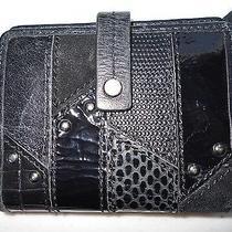 Fossil Black Leather Wallet Euc Photo
