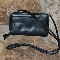 Fossil Black Leather Wallet Purse  Photo