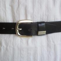 Fossil Black Leather Women's Belt Size Medium Photo