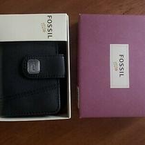 Fossil Black Leather Zip Around Wallet Photo