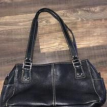 Fossil Black Pebbled Leather Large Shoulder Strap Bag 75082 Photo
