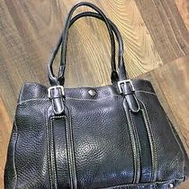 Fossil Black Pebbled Leather Purse 75082 Tote Satchel Photo